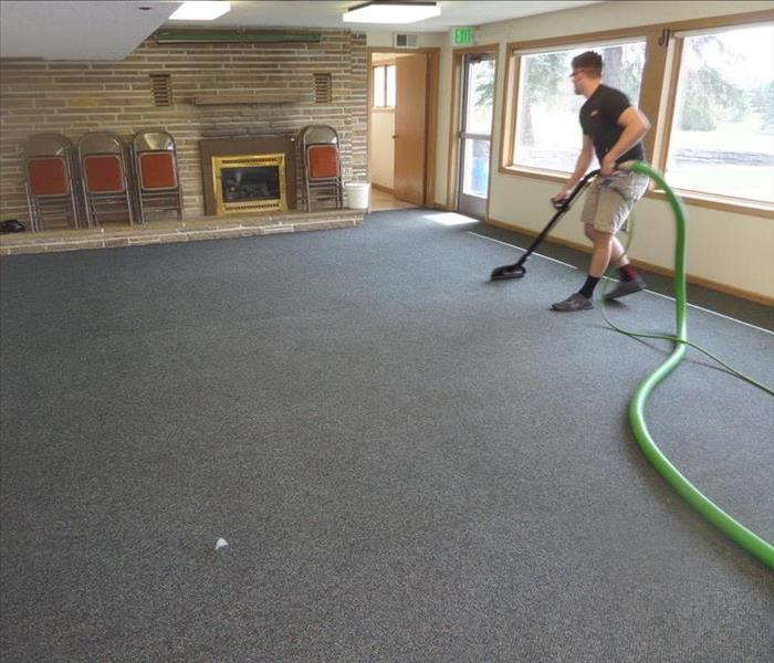 How do you clean commercial carpets? After